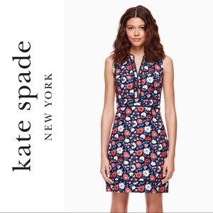 Kate Spade Blue Daisy Jacquard Sheath Dress